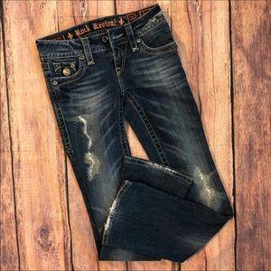 Rock Revival Celine Bootcut Distressed Jeans